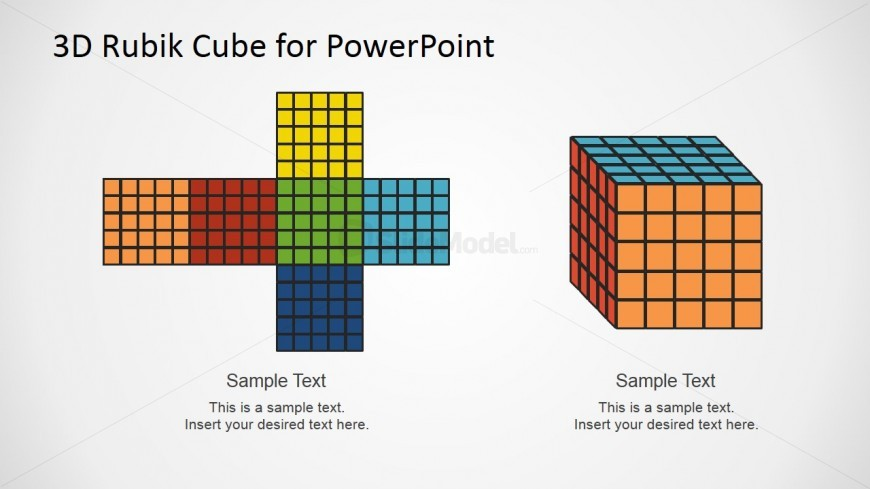 PowerPoint Design of Magic Cube Faces