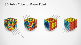 Editable 3D Rubik's Cube Business Marketing PowerPoint Template