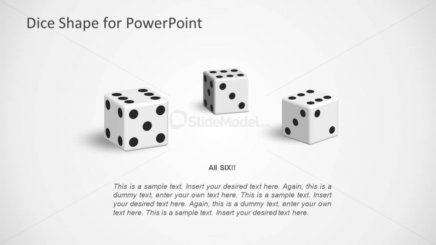 3 Dices for PowerPoint Shapes