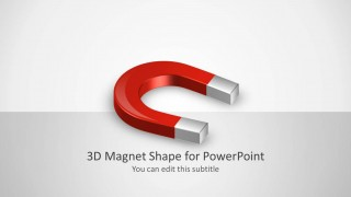 3D Magnet Clipart Shape for PowerPoint