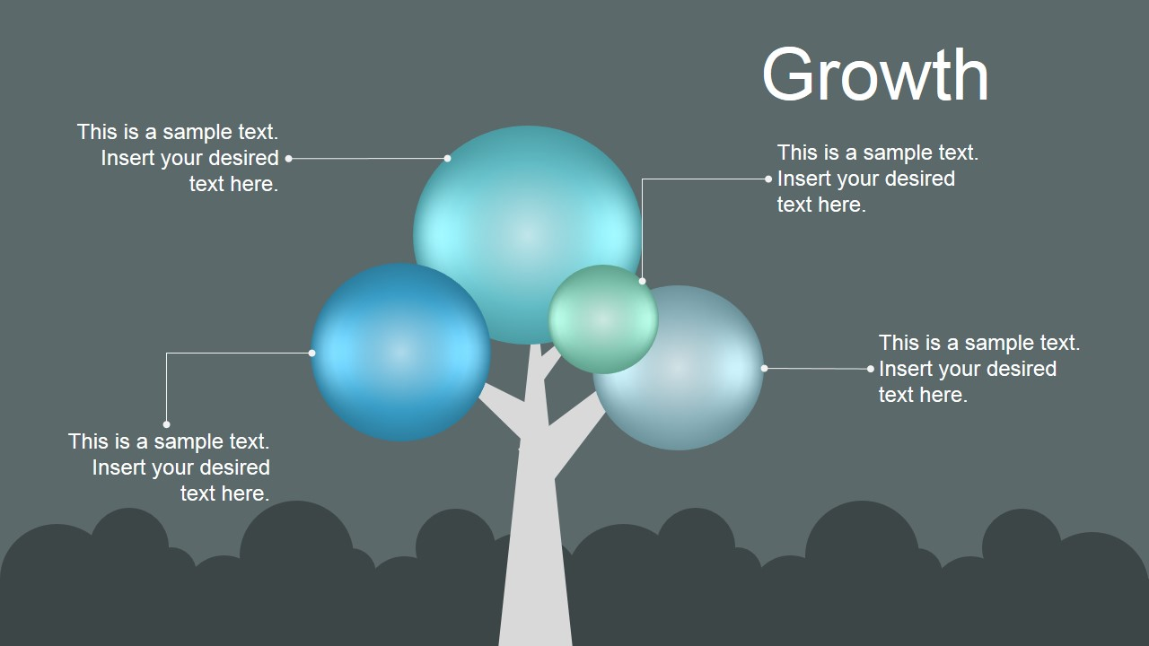 PowerPoint 3D Tree Featuring Growth
