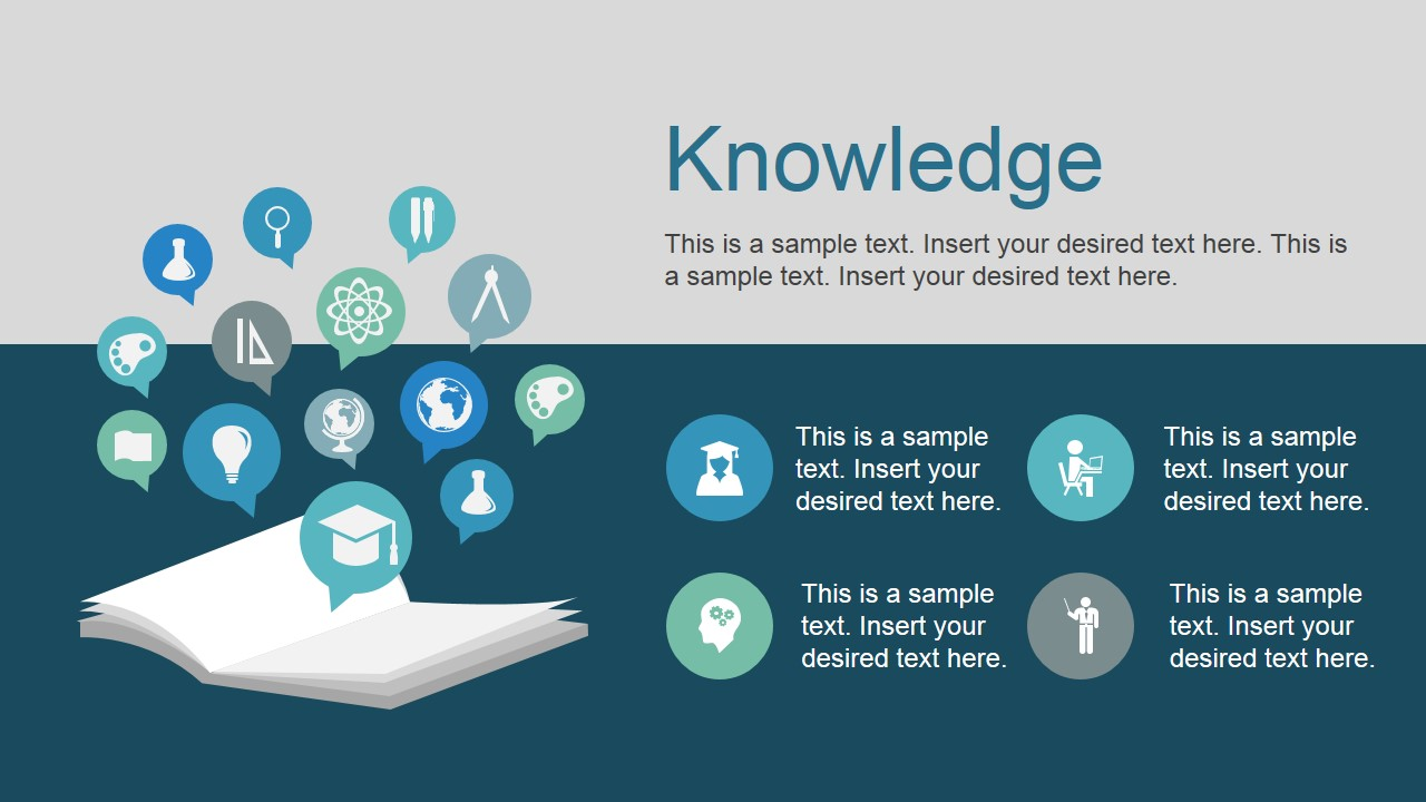 Open Book Clipart with PowerPoint Icons Knowledge Metaphor