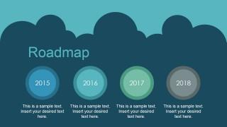 Animated PowerPoint Four Milestones Roadmap