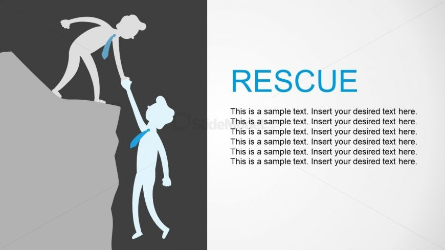 Hill Climb Rescue and Help Metaphor PPT
