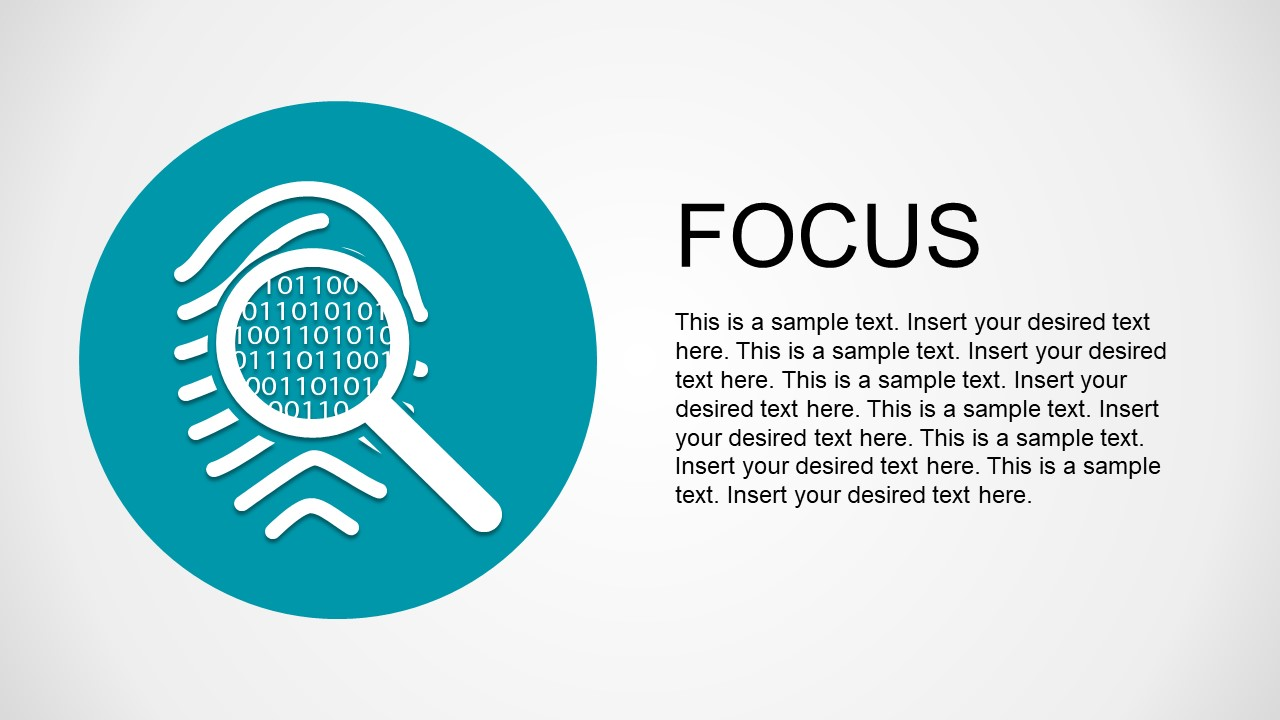 PPT Template Magnifying Glass Focus Problem Identification