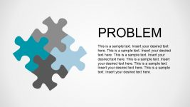Puzzle Pieces Together Metaphor PowerPoint