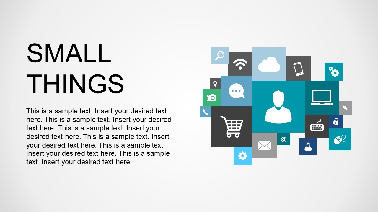 PPT Template Square Box Editable Icon Cluster