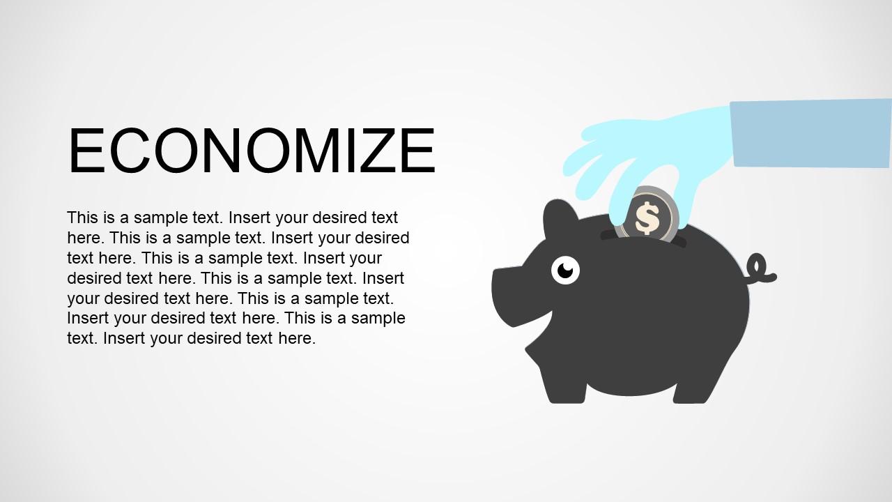 PPT Shape Piggy Bank Money Saving Figure