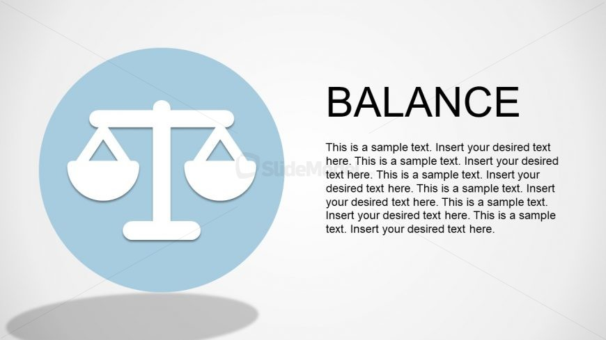 PPT Template Vector Image of Weight Scale of Balance