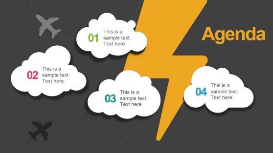 Clouds & Thunder Slide for PowerPoint