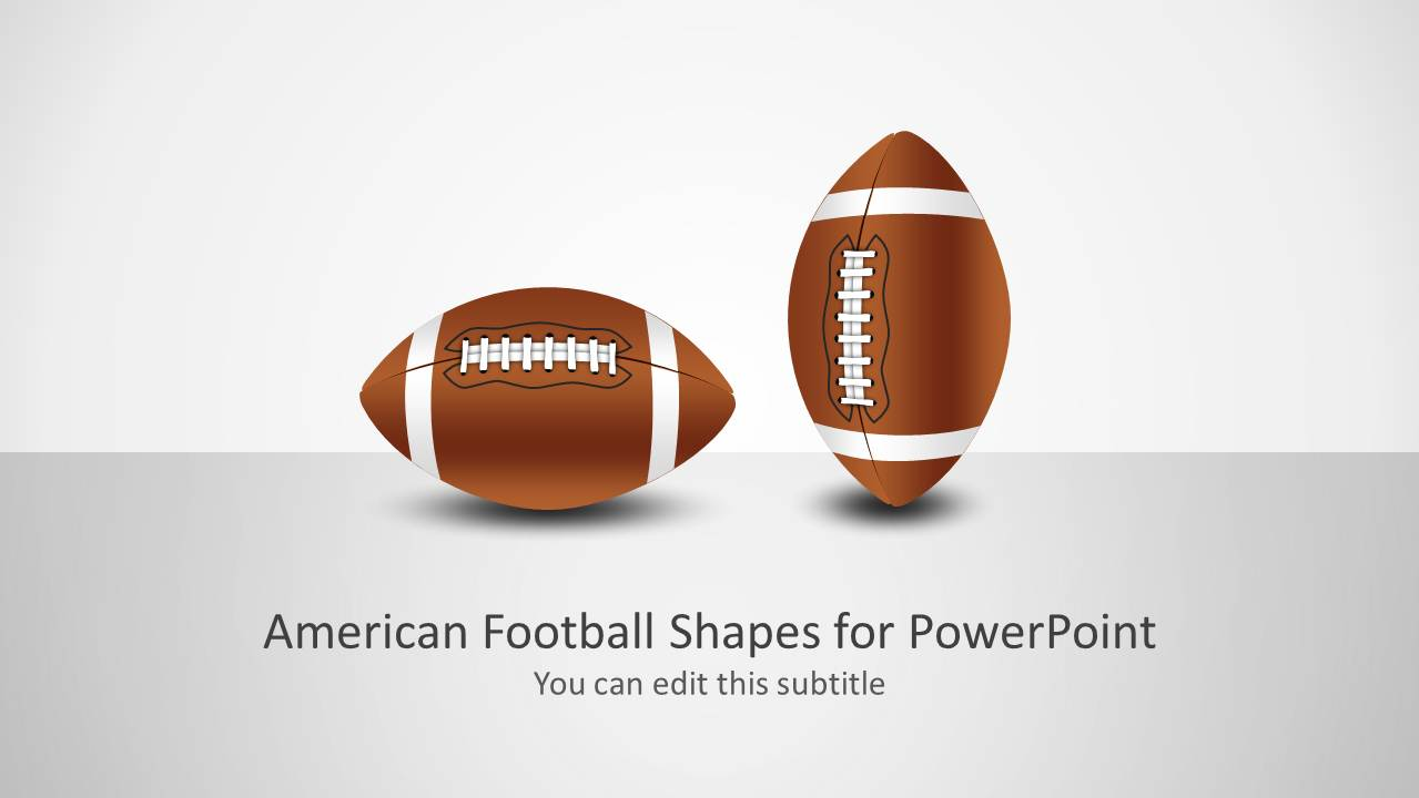football shape for powerpoint
