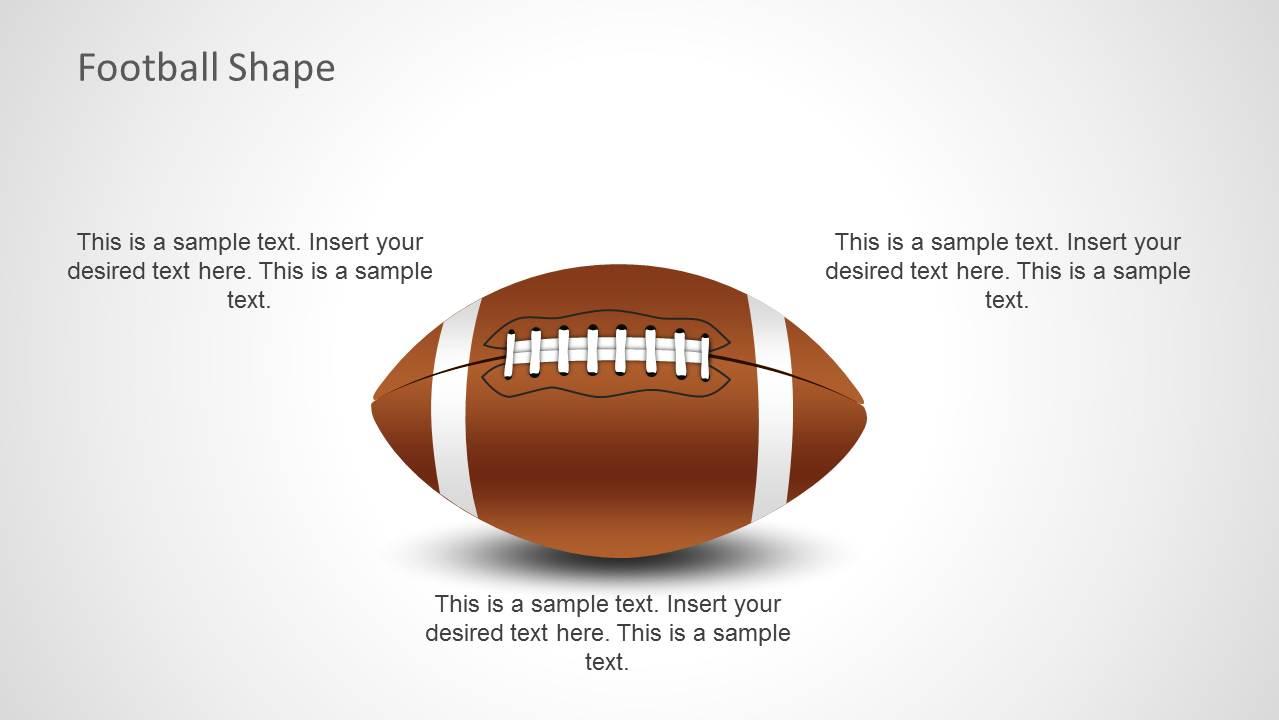 football shape for powerpoint