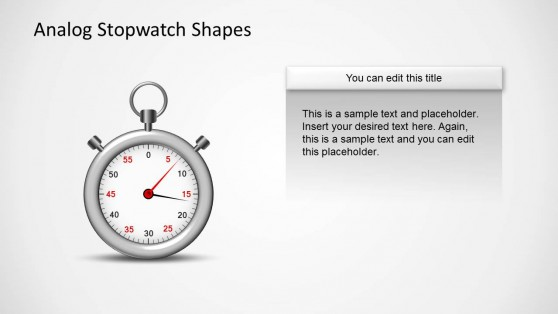 Analog Stopwatch Clipart for PowerPoint
