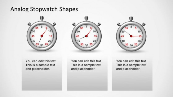 3 Stopwatch Clipart Slides for PowerPoint