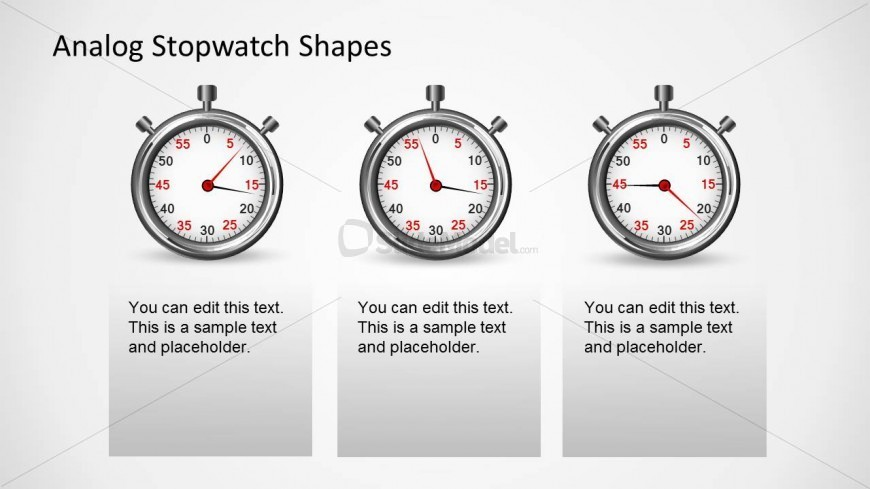 PowerPoint Shape of Analog Stopwatch