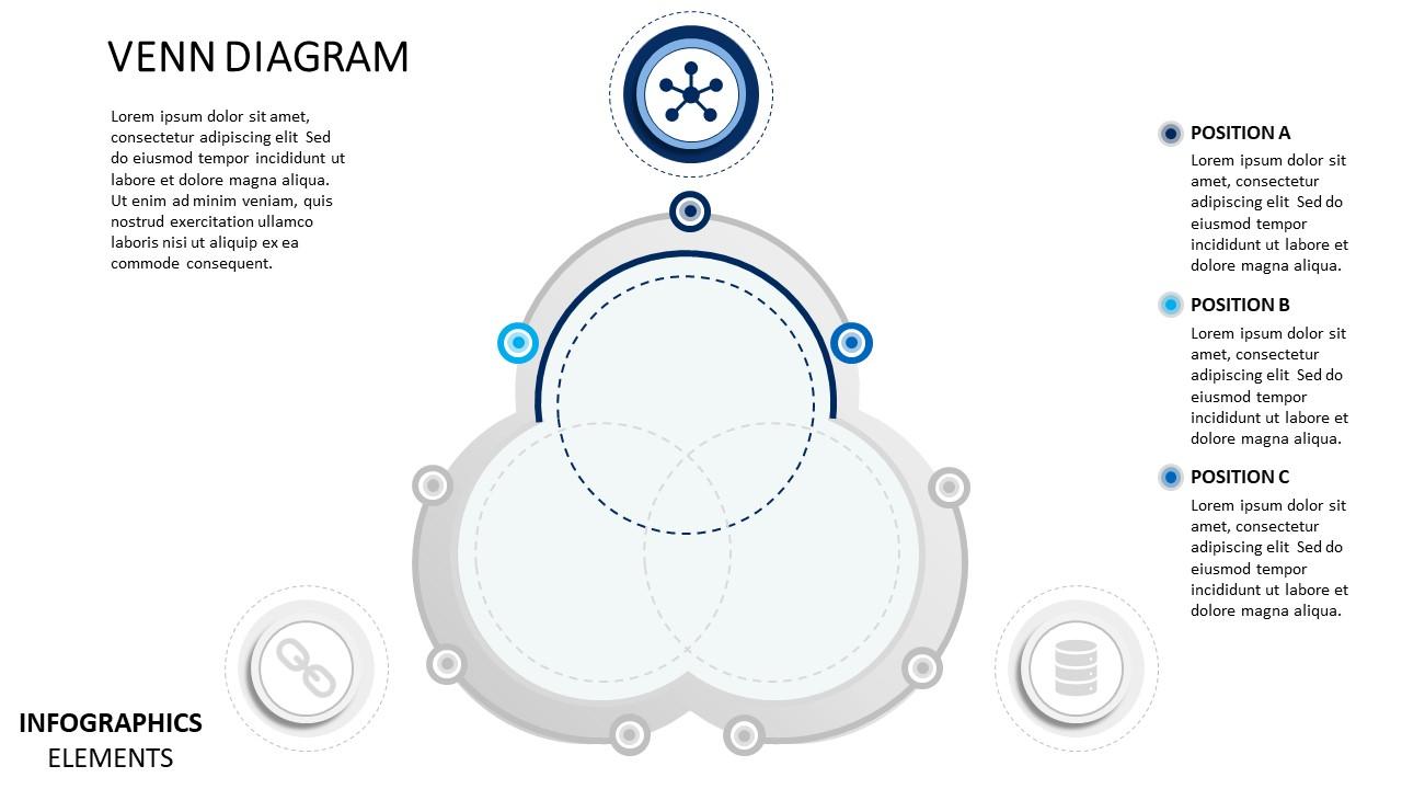 venn diagram material design powerpoint diagram