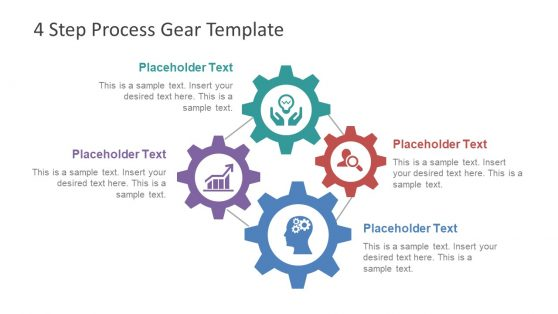 PowerPoint Process Diagram of Gears