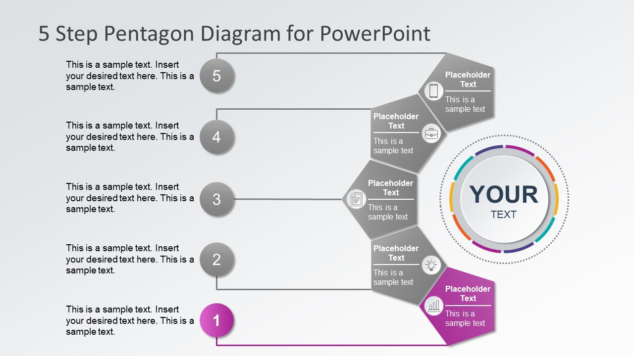 Infographic PowerPoint Slide of 5 Steps