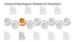 9 Segments of PowerPoint Timeline