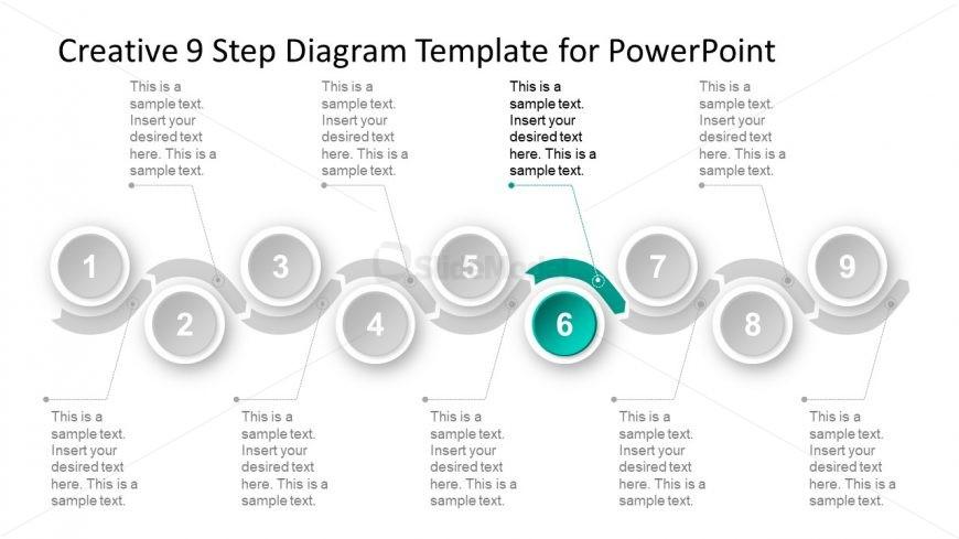 6 Steps of Material Timeline Diagram