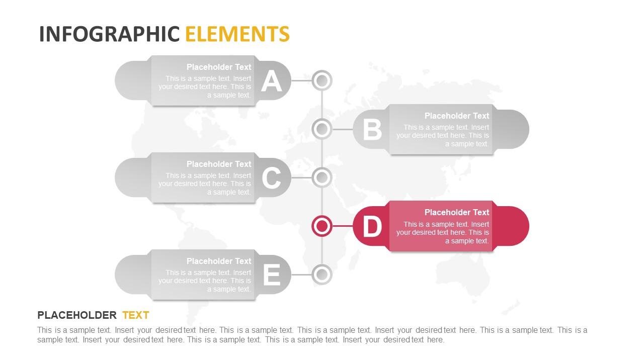 Labels for Events Timeline 5 Steps