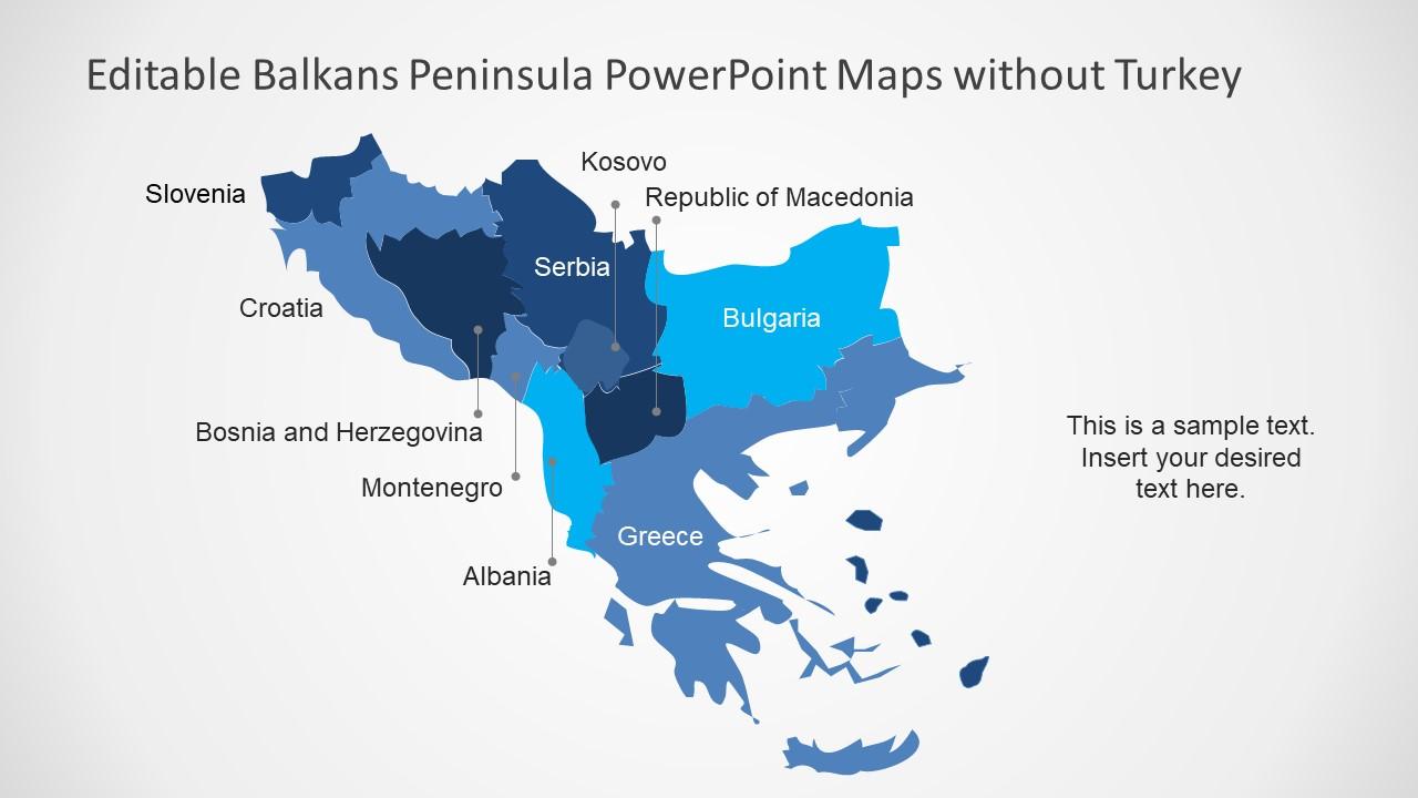 Balkans Peninsula PowerPoint Maps - SlideModel