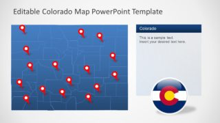 Location Markers on Colorado Map