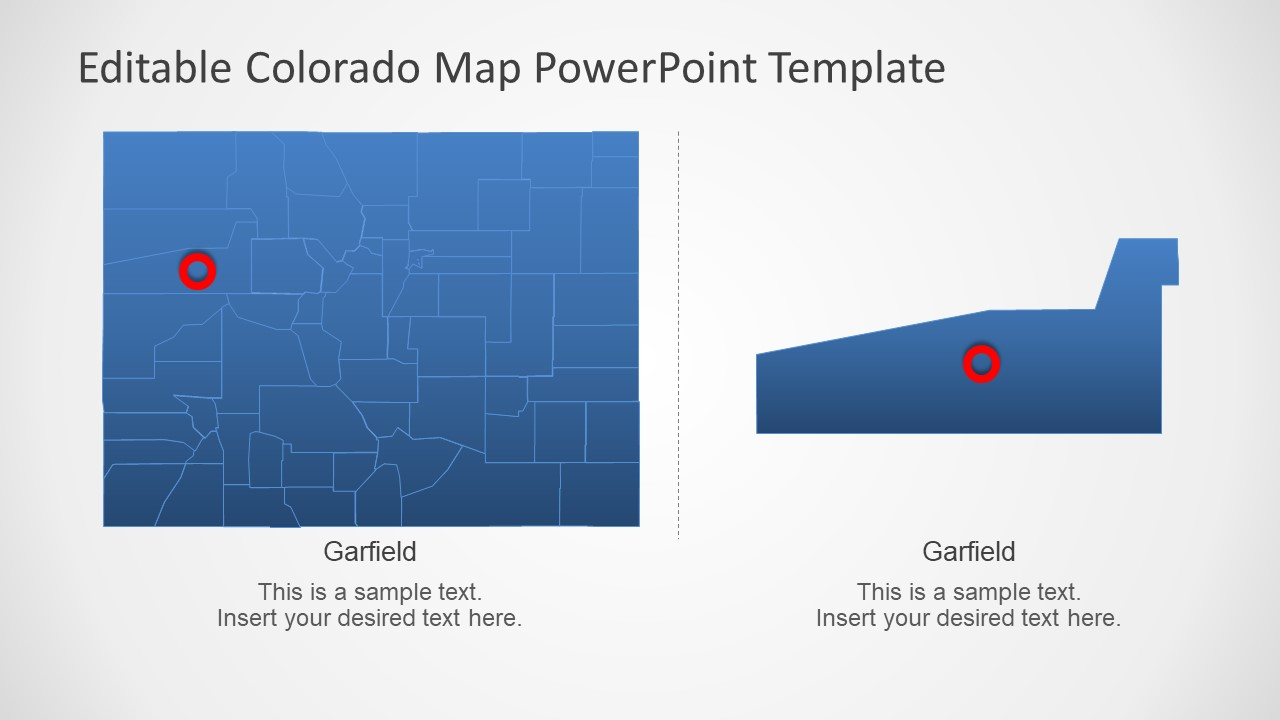 Map Silhouette Template Colorado