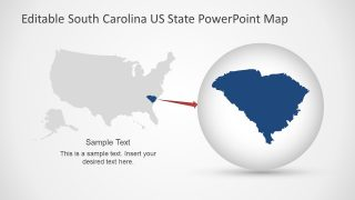 Highlight South Carolina in US Map