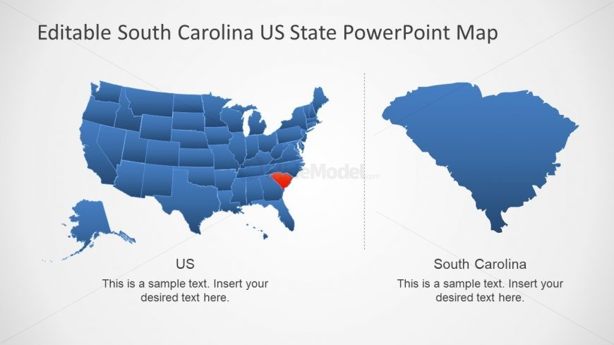 Highlight South Carolina in US Map