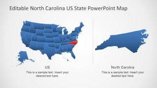 Blue United States Map Zoom