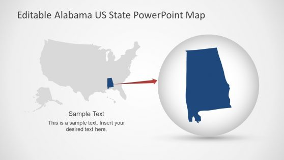 US Map PowerPoint Alabama