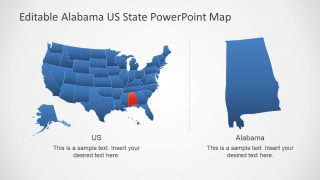Alamaba and Map of America