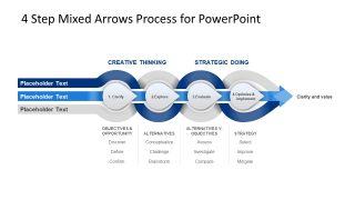 4 Steps Mixed Arrows PowerPoint Templates
