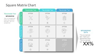 Infographic Matrix of 9 Cells