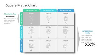 Slide of Infographic Matrix