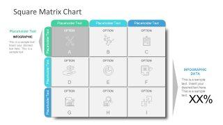 Slide of Infographic Matrix