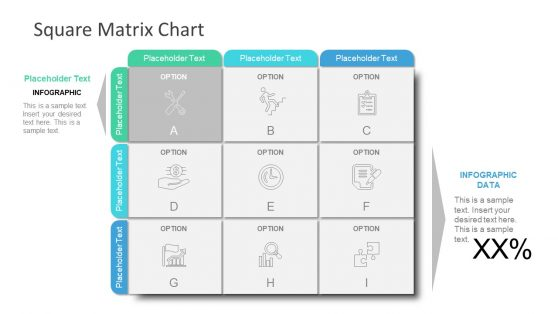 3X3 Matrix Chart Square PPT
