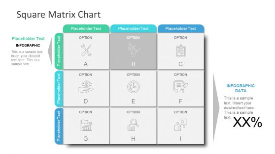 Editable PPT Matrix Design