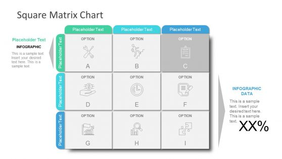 Square Matrix Presentation 9 Cells