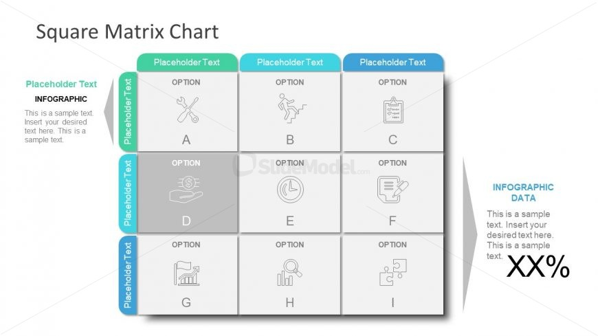 PPT Infographic Square Matrix