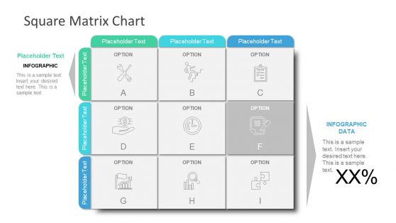 Square Matrix PowerPoint Template