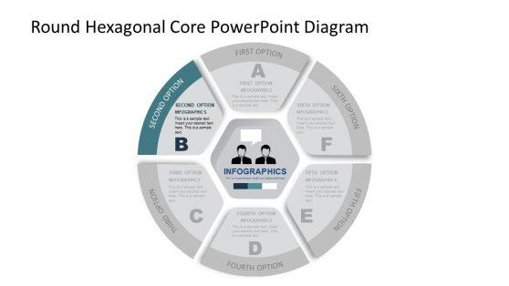 Editable PowerPoint Diagram Core Values