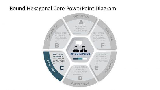 PPT Core Hexagonal PowerPoint Diagram