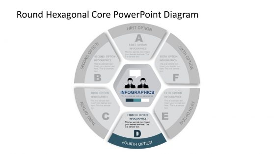 Round PowerPoint Diagram and Core