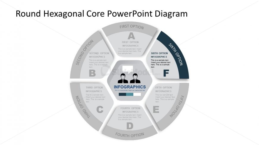 Slide of Hexagon Core and Circular Segment