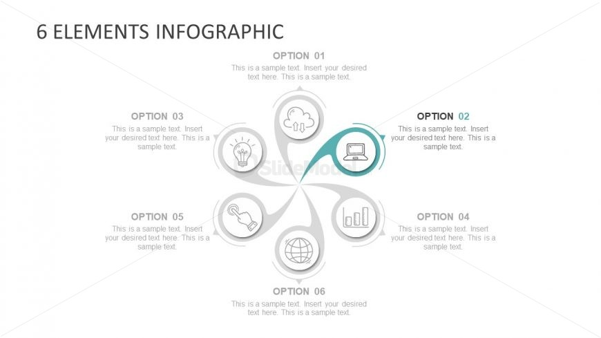 6 Segmented Infographic PPT