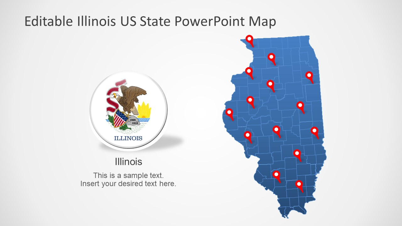 Illinois US State PowerPoint Map - SlideModel
