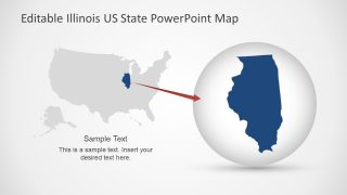 America States Map PowerPoint