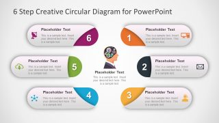 6 Step Brain Machinery Circular Diagram for PowerPoint